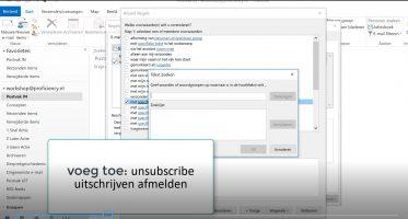 NIeuwsbrieven verplaatsen met Outlook Regels